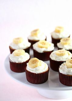 Banana Cupcakes with Honey Cinnamon Frosting recipe adapted from Martha Stewart's