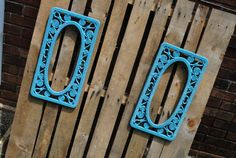 Shabby chic vintage Frames Turquoise by RecycleDesign1971 on Etsy, $25.00