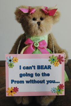 A cute way to ask a girl to Prom.