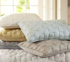 Isabelle Tufted Voile Quilt & Shams | Pottery Barn
