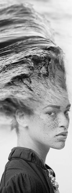 "Dream Portraits – Portraits surréalistes d'Antonio Mora  ""Her hair was wild like the waves""- Tanny O"