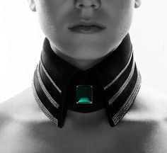 Karl Lagerfeld Collar. High fashion and eroticism frequently overlap, no?