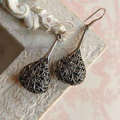 Vintage Marcasite Sterling Silver Earrings