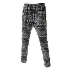THELEESSHOP – Patterned Harem Sweatpants (L)