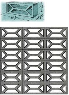 Mid Century Decorative Concrete Screen Block | modern design by moderndesign.org