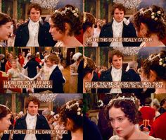 Lizzie Bennet Diaries dialogue over 1995 miniseries Pride and Prejudice. Souce: Mirth and No Matter on Tumblr.
