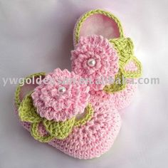 Crochet Baby Shoes (4141)