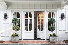 Ingram sketched numerous options for the patio doors before landing on this notc… Southern Homes, Southern Style, Southern Girls, Brandon Ingram, Georgia Homes, Enchanted Home, Atlanta Homes, Patio Doors, Cool House Designs