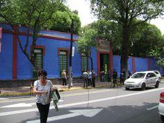 Frida Kahlo's House (La Casa Azul) in Mexico City.