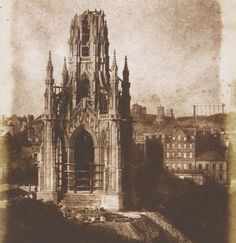 Scott's monument nearing completion c1843