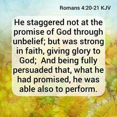 Romans 4:20-21 KJV