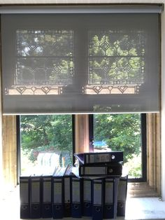 Sunscreen Roller Blind For Historic Property Steel Grey Rustington Modern Net Curtains Made