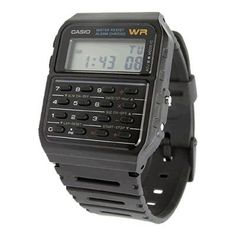 BLACK CALCULATOR CASIO WATCH ★ VINTAGE 1980'S RETRO STYLE ★ | eBay