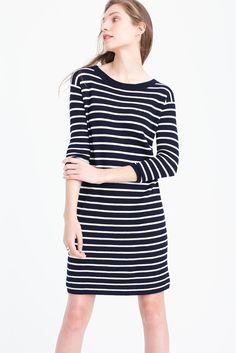 merino striped sweater-dress