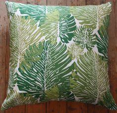 outdoor cushion retro monstera leaf