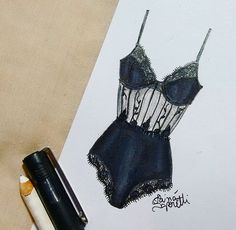 ◼❤ #draw #drawing #fashion #love #inlove #fashionillustration #minimalist #black #illustration #lingerie #intimates #instagood #fashiondesign #designdemoda #moda #art #arte #croqui #handmade #lookdodia #body #lookoftheday #lace #vintage #fashion4arts