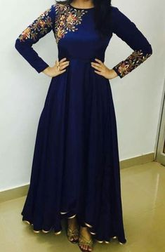 FatimaBi Plus size Fashion Indian Designer Engagement Blue Anarkali Kameez Dress #FatimaBi #AnarkaliKameez