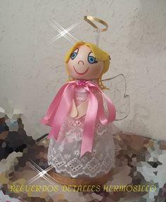 DIY Como Hacer dulcero angelita recuerdo de bautizo con botellas pet