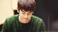 This is a gif of Nichkhun from the Kpop boy band 2PM.