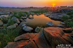 Sunset at Subarnarekh River in Ghatshila