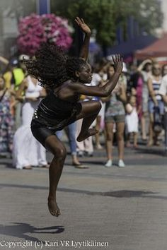 A magnificent photo of a dancer who has rhythm in her blood!