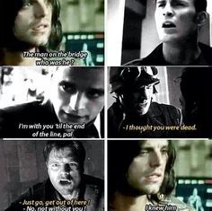 This scence (where Bucky asked about the man on the bridge) broke my heart!