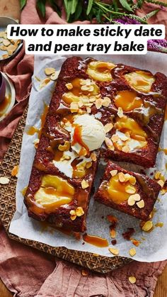 Sweet Recipes, Cake Recipes, Dessert Recipes, Healthy Eating Recipes, Cooking Recipes, Sticky Date Pudding, Almond Recipes, Tray Bakes, No Bake Cake