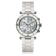 053f11923f GUESS Gc DIVER CHIC White Ceramic Chronograph Brand Name Watches, Sport  Watches, Women's Watches