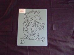 Sashiko Japanese Embroidery Stencil 8 in. Asian Dragon Block/Quilting by KimonoBoro on Etsy