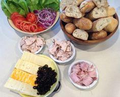 Build your own Sandwich #Frozen #Fever party