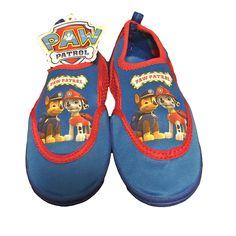 Paw Patrol Toddler Boys Royal Blue Mesh Water Shoes for Beach or Swimming Pool  Size:  Medium (7/8)  #PawPatrol