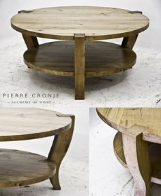 A Pierre Cronje Round Metro Coffee Table in French Oak