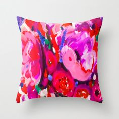 Beautiful Bright Pillow Cover Pink Peony