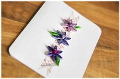 Quilling Glückwunsch Grußkarte Hochzeit Geburtstag von Liebeabies auf DaWanda.com