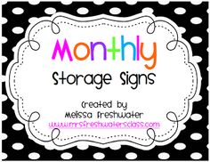 Monthly Storage Labels