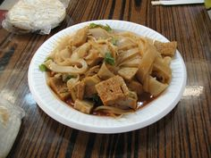 Xi'an, the capital of China's Shaanxi province, is the best place to try liang pi, a cold noodle dish with various vegetables and proteins. The long, wide noodles are made from wheat or rice flour.