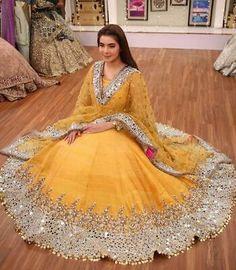 Hand made Mirror work latest Pakistani bridal dresses Pakistani Bridal Dresses Online, Desi Wedding Dresses, Indian Fashion Dresses, Indian Bridal Outfits, Indian Gowns Dresses, Pakistani Bridal Wear, Pakistani Dress Design, Indian Designer Outfits, Pakistani Outfits