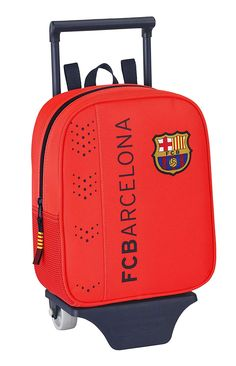 Barça - Mochila-guardería con ruedas, color naranja (Safta 611462280): Amazon.es: Equipaje Color Naranja, Barcelona, Fashion, Kids Backpacks, Baggage, Briefcases, Wheels, Products, Colors