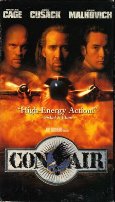 Con Air is an 1997 American action-thriller film directed by Simon West and produced by Jerry Bruckheimer, producer of The Rock. It stars Nicolas Cage, John Cusack and John Malkovich