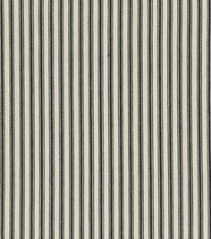 "Waverly Upholstery Fabric 54"" - Timeless Ticking Black"