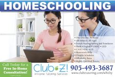 In Home Tutoring & Online Tutoring - Club Z! Tutoring of Whitby, ON Home Tutors, Online Tutoring, Study Skills, Test Prep, Foreign Languages, Flexibility, Homeschool, English, Science