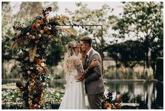 Hayley Casual Wedding Reception, Wedding Ceremony Arch, Outdoor Ceremony, Wedding Ideas, Country Wedding Flowers, Fall Wedding Bouquets, Autumn Wedding, California Backyard, California Wedding