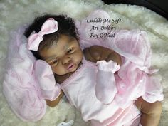 AA / Ethnic Reborn Baby Girl for sale - Esme by Laura Lee Eagles Reborn Toddler, Reborn Baby Girl, Reborn Babies, African American Baby Dolls, American Girl Doll Sets, Reborn Dolls For Sale, Baby Dolls For Sale, Cute Babies Photography, Black Baby Dolls