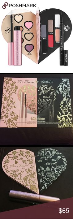 Too Faced x Kat Von D Better Together Too Faced x Kat Von D Better Together Collection. Gorgeous collaboration palette, all shades are extremely pigmented. Each shade was very lightly swatched once, the Mascara and liner have never been opened. All original packaging included! Sephora Makeup Eyeshadow