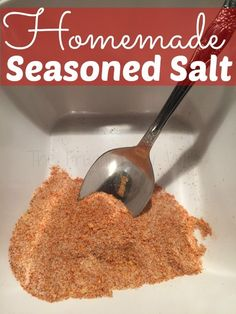Homemade Seasoned Salt - Running low on seasoned salt? Want to make it better then the store bought? This recipe is for you! It's easy and I'm sure you ahve all the spices already in your spice cabinet!