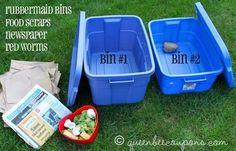 compost bin in 10 easy steps! With video tutorial from my sonWorm compost bin in 10 easy steps! With video tutorial from my son Worm Farm Diy, Organic Gardening, Gardening Tips, Flower Gardening, Red Worms, Garden Compost, Diy Compost Bin, Homemade Compost Bin, Veg Garden