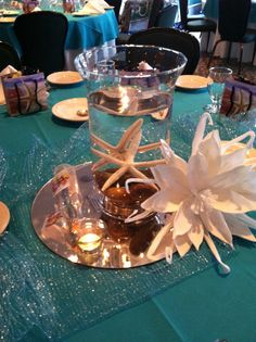 Centerpieces for Goretti's Prom 2014 Under the Sea/ A Night in The Lost City of Atlantis #promgirl #homecoming #underthesea #mermaid #sea #underwater