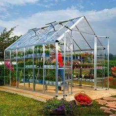 Palram Snap & Grow Silver Greenhouse - 8' × 12'