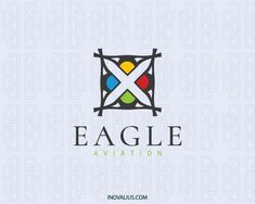 Eagle is an abstract logo composed of eagles in abstracts shapes. (animal, eagle, abstract, bird, zoo, pet care, pet shop, app developer, flying, aviation, airlines, bird food, logo for sale, logo design, logo, logotipo).