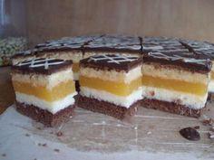 Domino rezy pomarančové High Sugar, Cake Bars, Tiramisu, Cheesecake, Food And Drink, Pudding, Favorite Recipes, Treats, Cookies